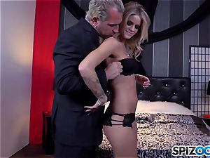 Jessa Rhodes succulent cock-squeezing cooter is plumbed by a enormous manhood
