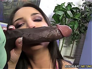 Giselle Leon takes big black cock