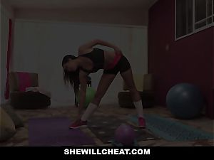 SheWillCheat cheating girlfriend Karlee Grey smashes Trainer