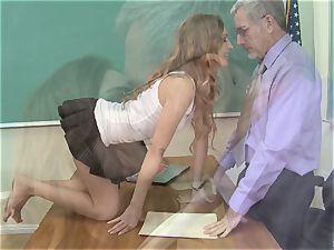 provocative Maci Winslett gets smashed across the school desk