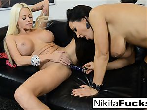 warm Russian Nikita Von James tears up porn veteran Lisa Ann