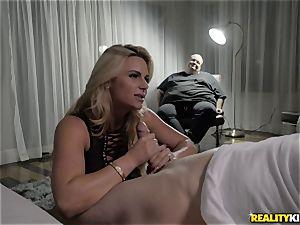huge-boobed blond Phoenix Marie cuckold drill