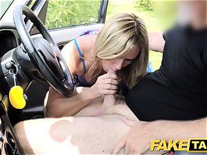 faux taxi Mum with inborn bumpers gets massive brit knob