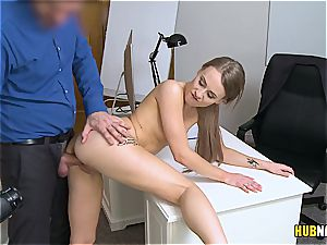 ash-blonde inexperienced with immensely high lovemaking drive on a casting