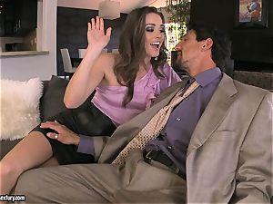 Tori black pleases her man's jizz-shotgun making it indeed hard to treat