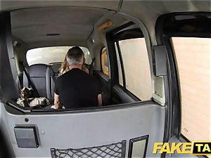 faux taxi anilingus suntanned babe with tiny pinkish cootchie