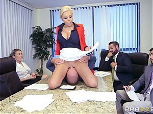 stringent huge-chested boss Nina Elle exploits its workers during a appointment