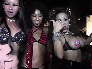 Club sluts twerking in the VIP at this super-naughty soiree
