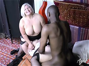 AgedLovE Lacey Starr interracial 3some