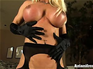 milf ash-blonde loves playing with her large two inch pleasure button