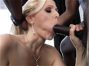 bi-racial plowing for cougar Julia Ann