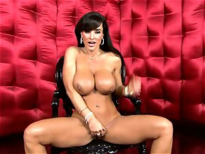 jaw-dropping Lisa Ann unsheathes her phat delicious jugs