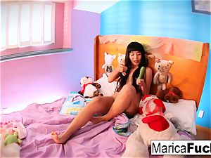 Marica plays with candy boner