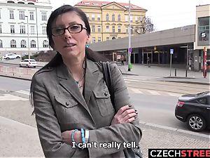Czech mummy secretary Pickup up and boned